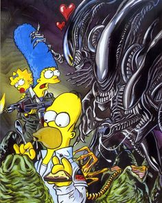 Aliens and the Simpsons
