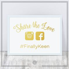Check out this item in my Etsy shop https://www.etsy.com/uk/listing/526378931/wedding-sign-decal-share-the-love-on