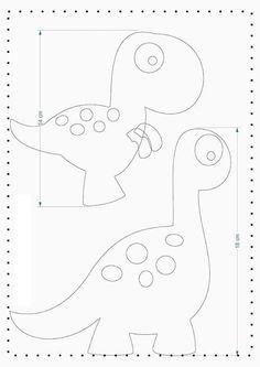 Ideas for aplicaciones patchwork ideas Felt Animal Patterns, Felt Crafts Patterns, Applique Patterns, Stuffed Animal Patterns, Sewing Patterns, Dinosaur Template, Dinosaur Pattern, Dinosaur Dinosaur, Dinosaur Party