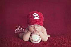 @ Stacia!!!!     Baseball Cap St Louis Yankees Boston red sox by LandyKnits on Etsy, $25.00