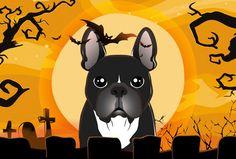 Halloween French Bulldog Fabric Placemat BB1785PLMT
