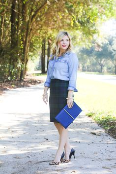GlamGrace.com Plaid and chambray