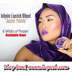 6 Color Lipstick Palette Available for purchase at www.alaposh.com Shop Now! Free shipping on U.S orders over $100. Like Us on Facebook. Follow us on Instagram @alaposhcosmetics