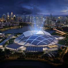 Singapore's new national sports stadium lays claim to the world's largest free-spanning dome.   THE LIBYAN Esther Kofod www.estherkofod