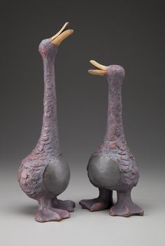 Sharon Stelter - Stoneware Sculpture — Blue Dolphin House and BDH Studio Clay Birds, Ceramic Birds, Ceramic Animals, Clay Animals, Ceramic Pottery, Pottery Art, Ceramic Art, Pottery Sculpture, Bird Sculpture