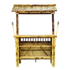 Throw the tiki bash of the year with the RAM Game Room Bamboo Tiki Indoor/Outdoor Home Bar in your home or backyard. Stock up the stemware holders on. Outdoor Tiki Bar, Outdoor Patio Bar Sets, Outdoor Decor, Indoor Outdoor, Bamboo Bar, Bamboo Construction, Tropical Backyard, Tiki Torches, Metal Bar Stools