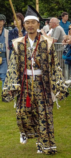 Japanese guest at the International Festival of Falconry at Englefield House, Berkshire