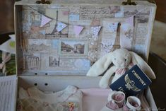 travel themed baby shower   The travel theme took a more vintage-style, so that I could ...