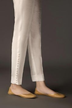 Ready To Wear White Grip Trouser Design 48 About Product Embroidered Patch Trouser Fabric: Grip Color: White Deliver: 7 - 10 Business Days We deliver Worldwide Salwar Designs, Kurta Designs Women, Kurti Designs Party Wear, Blouse Designs, Salwar Kameez, Salwar Pants, Churidar, Trouser Pants, Trousers Women
