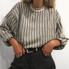 wear with topshop black and white sweater and black or thrifted mom jeans