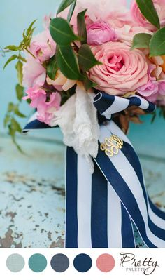 Pink and Blue Wedding Colors    Pretty Palettes    PHOTO SOURCE • SARA AND ROCKY PHOTOGRAPHY