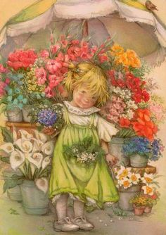 девочка цветочница