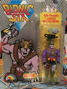 This is Glove from the Bionic Six line of toys and action figures from LJN. These are part of my personal toy collection.
