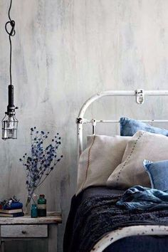 Who needs furniture when you have these wall? Fresco Lime Paint from Pure & Original
