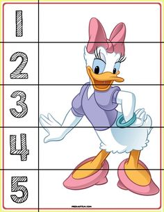FREE! Printable Mickey & Friends Number Puzzles - Autism & Education