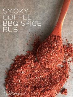 Smoky Coffee BBQ Spice Rub- coffee sugar smoked paprika salt garlic powder onion powder orange peel or clementine peel - Coffee Grinder - Ideas of Coffee Grinder Homemade Spices, Homemade Seasonings, Spice Blends, Spice Mixes, Bbq Dry Rub, Dry Rubs, Junk Food, Sauce Barbecue, Bbq Sauces