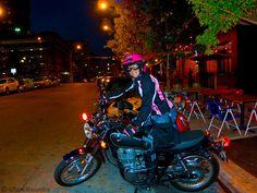 Kickstarting the 2015 Yamaha SR400. Austin, Texas