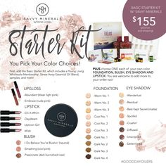 Basic starter kit with Savvy Minerals Essential Oil Starter Kit, Essential Oils Guide, Essential Oil Uses, Young Living Oils, Young Living Essential Oils, Coconut Essential Oil, Savvy Minerals, All Natural Makeup, How To Do Makeup