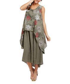 Couleur Lin Beige Anna Linen Sidetail Tunic - Plus Too | Tunics ...