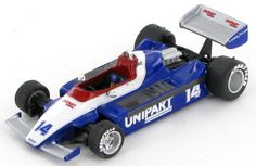 Model of the Unipart Ensign Ford as tested in 1980 by Mike Thackwell. Car Ins, F1, Diecast, Minis, Projects To Try