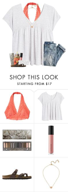 """do you need me or do you need someone"" by oliviajordyn ❤ liked on Polyvore featuring Hollister Co., MANGO, J.Crew, Urban Decay, Bare Escentuals, Birkenstock and BaubleBar"