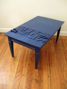 Navy typography table