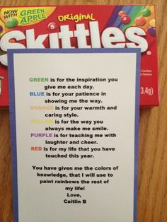 teacher appreciation candy poems   Teacher Retirement Poem Gift