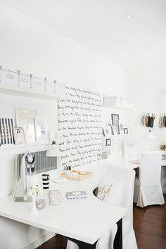 Gorgeous black & white office
