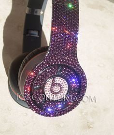 Custom PURPLE Bling BEATS by DRE with Swarovski Crystals 5e9569a97c