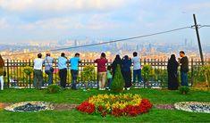 Enjoying the panoramic views from Çamlıca Hill.