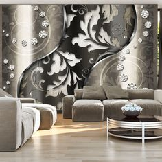 """Effectively Eye-Catching detail this wallpaper mural """" Diamond leaves"""" will give off the wow factor in any room or workplace. Feature Wallpaper, Brick Wallpaper, Wallpaper Panels, Wallpaper Roll, Tile Panels, Hazelwood Home, Wall Design, Wall Murals, Decoration"""