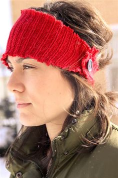 A Craft a Day: Recycled Sweater to Ear Warmer - Tutorial