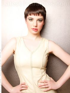 Rosemary's Baby Simple Pixie Hairstyle