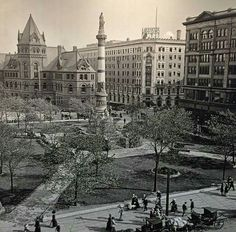 Lafayette Square about a century ago...downtown Buffalo