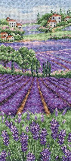 Provence Lavender Landscape Cross Stitch Kit   sewandso
