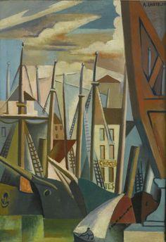 André Lhote(French, 1885-1962): Le port de Marseille (1923) Oil on canvas, 92 x 65cm.