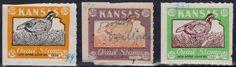 Kansas Quail Stamps 1958, 59, 61.