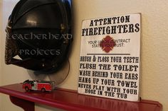 Hey, I found this really awesome Etsy listing at http://www.etsy.com/listing/159791723/firefighter-bathroom-sign