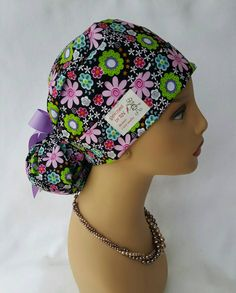 Check out this item in my Etsy shop https://www.etsy.com/listing/276751956/ponytail-scrub-hat-with-ribbon-scrub-hat
