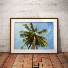 Palm tree print, palm print, summer printable, palm tree decor, home decor, palm tree photo, tropical decor, Landscape Photography, Wall art by PrintmyInk on Etsy