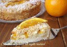 Sbriciolata con crema alle arance, un dolce goloso, perfetto per colazione, merenda o dolce di fine pasto. Ricetta facile e veloce..