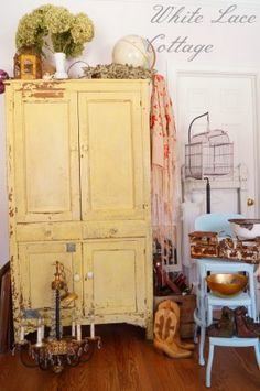 Shabby Chic Inspiration Tour Of A Studio - White Lace Cottage