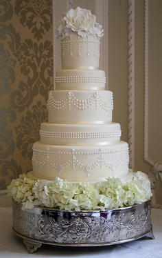 Today's wedding cake by Cotton and Crumbs, via Flickr