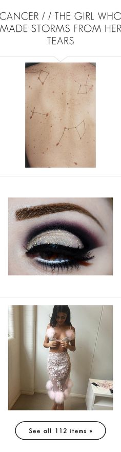"""CANCER / / THE GIRL WHO MADE STORMS FROM HER TEARS"" by misslani ❤ liked on Polyvore featuring pictures, photos, backgrounds, images, people, beauty products, makeup, eyes, filler and beauty"