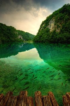 Old Dock, Plitvice Lakes, Croatia  photo by timedmonds