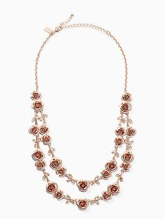 garden garland double strand necklace by kate spade new york