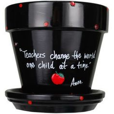 for end of year teacher gifts. Choose your quote! Put on the desk, plant a flower, add some candy, possibilities are endless. Flower Pot Crafts, Clay Pot Crafts, Flower Pots, Teacher Appreciation Week, Teacher Gifts, Craft Gifts, Diy Gifts, Presents For Teachers, School Gifts