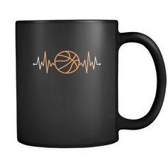 Basketball pulse - Basketball Mug Basketball Coffee Cup (11oz) Black