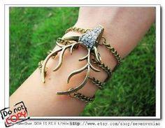Discount Vintage elk bracelet with crystals cuff bracelet crystal bracelet  Vintage bracelet 784d5ce123ba