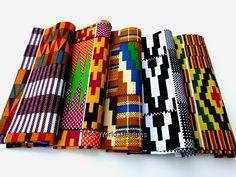 Fat Quarter Sale African fabric  Kente print by TessWorldDesigns, $9.00